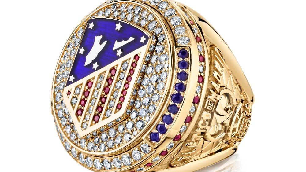 Atletico Madrid's 2018 Uefa Cup Championship ring