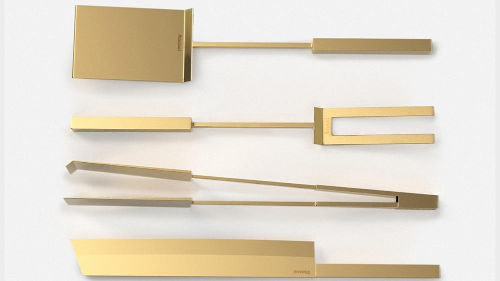 Miansai 14k solid gold grill set