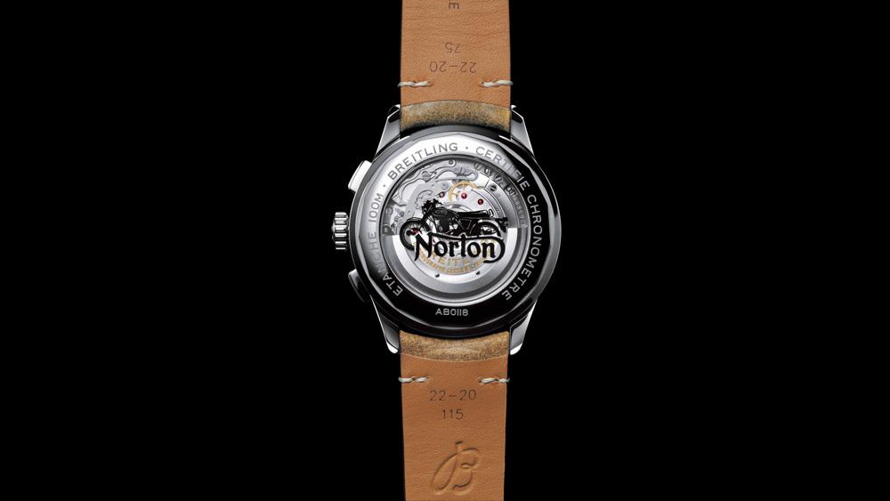 Breitling Premier B01 Chronograph Norton Edition Caseback