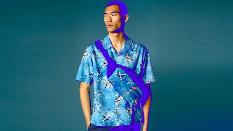 Dunhill's Aquarium collection offers a selection of now-trending floral camp-collar shirts.