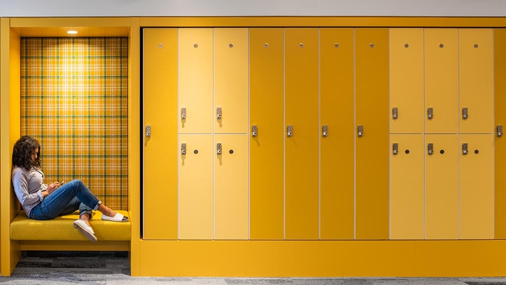 Lockers built for Capital One by Hollman Inc