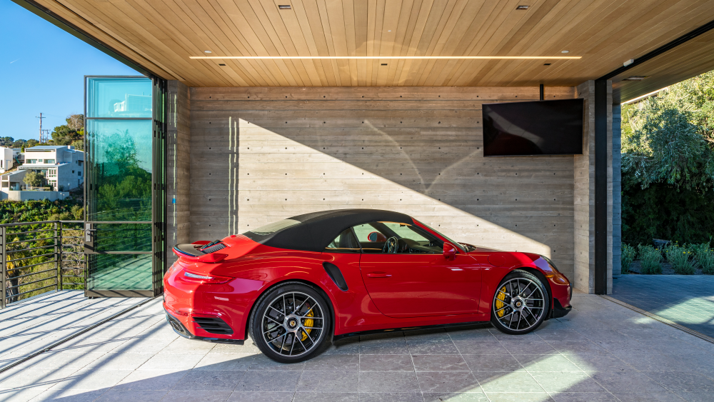 The on-display garage.
