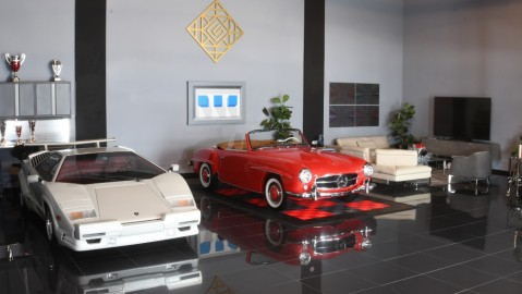 Inside one of CollectionSuites supercar sanctuaries
