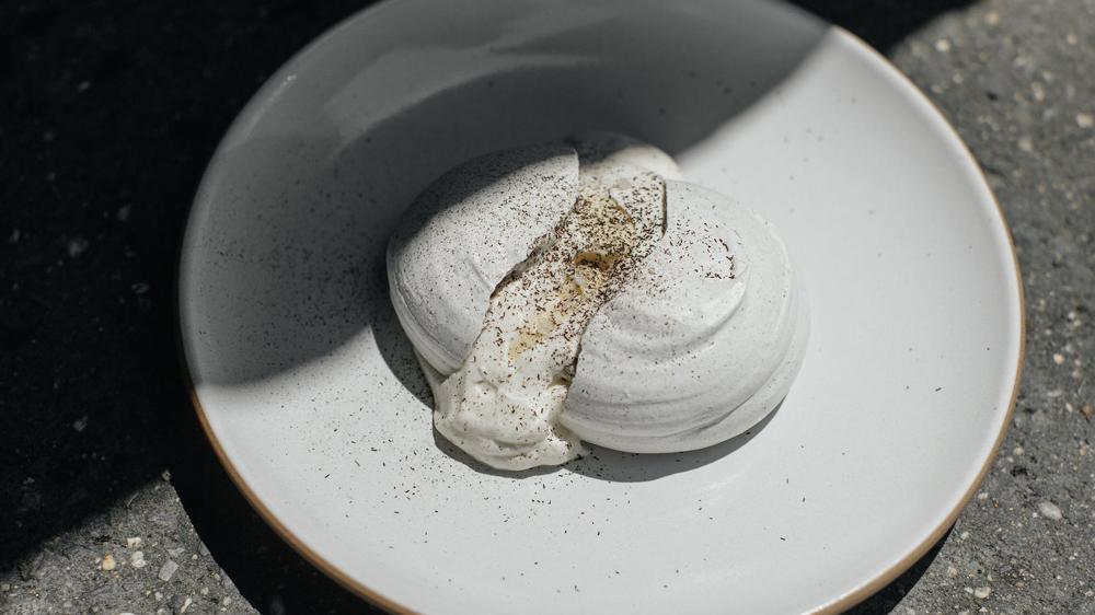 Cosme's husk meringue with corn mousse