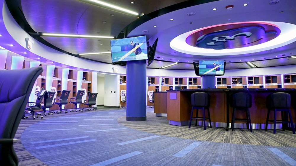 The Chicago Cubs clubhouse which was outfitted by Hollman Inc