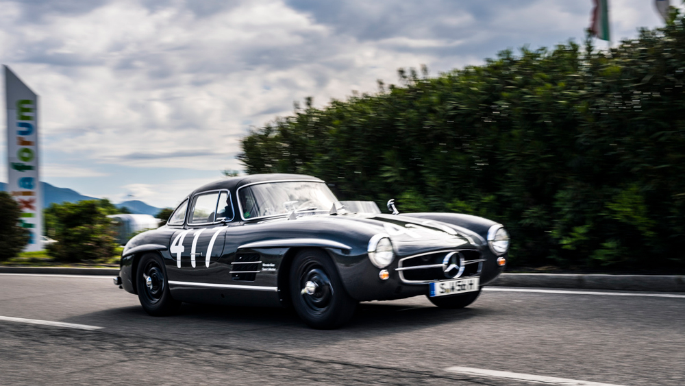 The 1955 Mercedes-Benz 300SL modeled after John Fitch's famed no. 417 Gullwing.