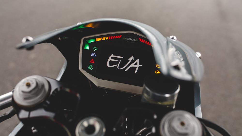 The display screen on deBolex Engineering's Energica Eva.