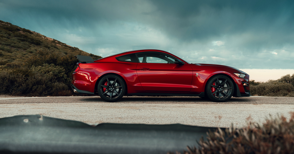The new GT500's 5.2-liter supercharged V-8 generates more than 700 hp.