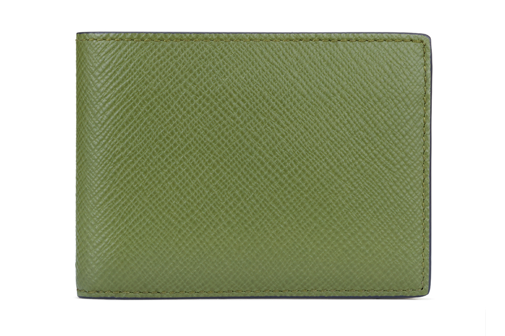 Upgrade your dad's wallet from a bulky billfold to this slim version from Smythson.