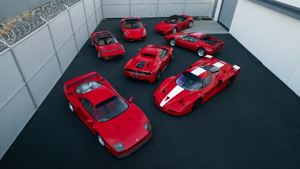 The seven Ferraris from the Ming Collection