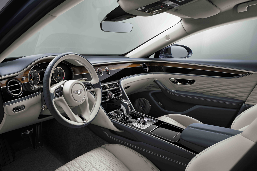 The cabin is bedecked in diamond-quilted leather and a host of new wood veneer options.