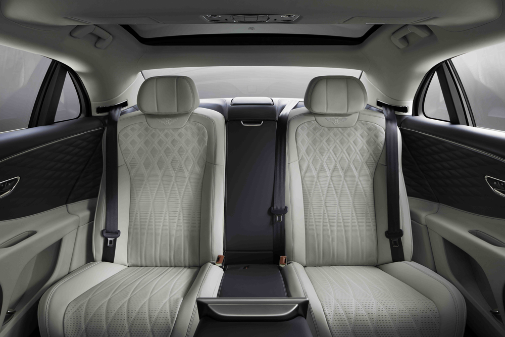 The stretched wheelbase dramatically increases rear-seat legroom.
