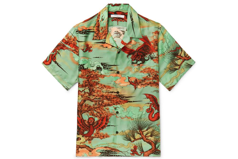 Givenchy Camp Collar Shirt