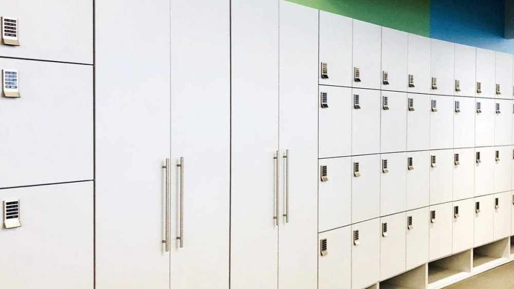 Lockers built by Hollman Inc. for Goldman Sachs