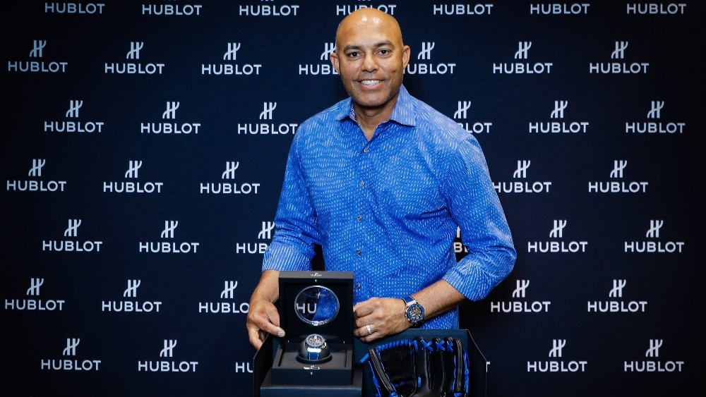 Mariano Rivera with the Hublot Classic Fusion Aerofusion Chronograph Mariano Rivera