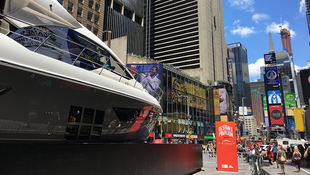 Azimut-Benett 60-foot yacht in Times Square