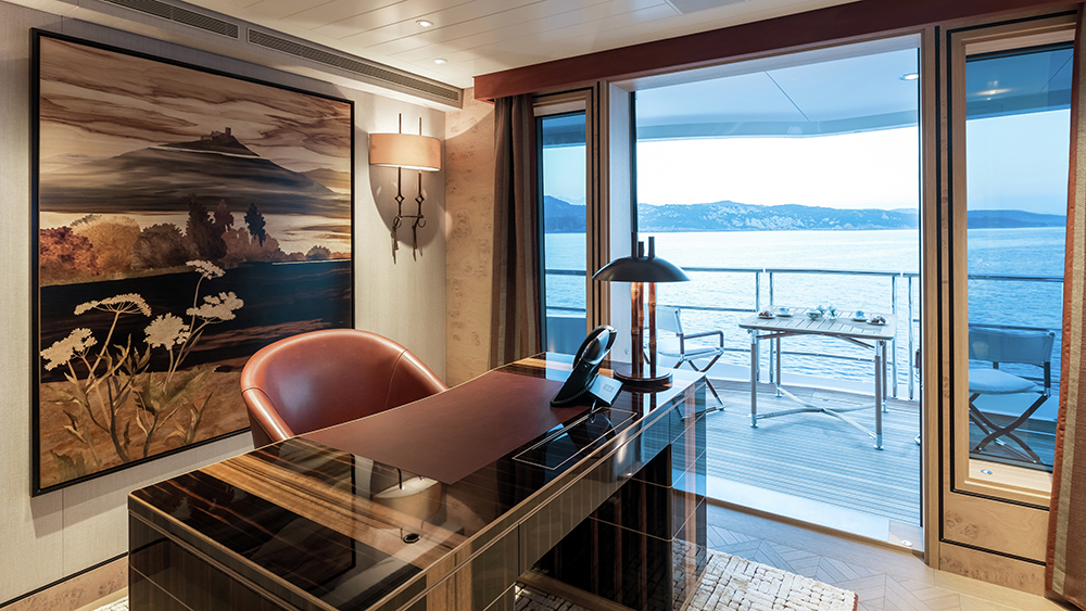 Master cabin study on the Burgess charter yacht Joy