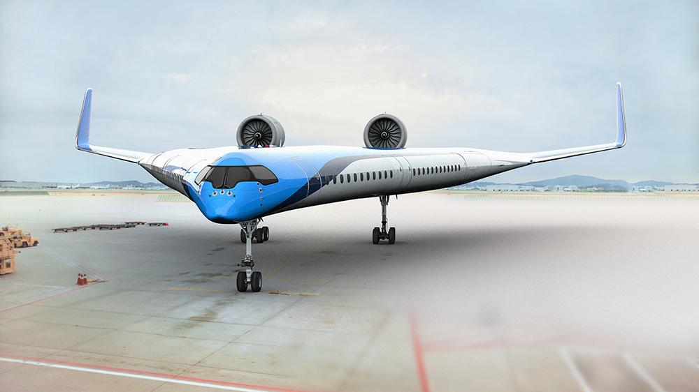 KLM Flying-V Jet Concept from Delft Technical University