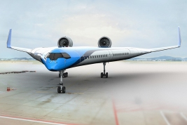 KLM Flying-V Jet Concept from Delft Technical University