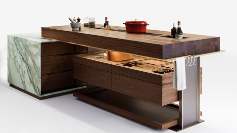 Lanserring tailored kitchen, the Delancey Island with accessories