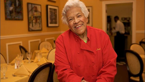 Leah Chase at Dooky Chase's in New Orleans