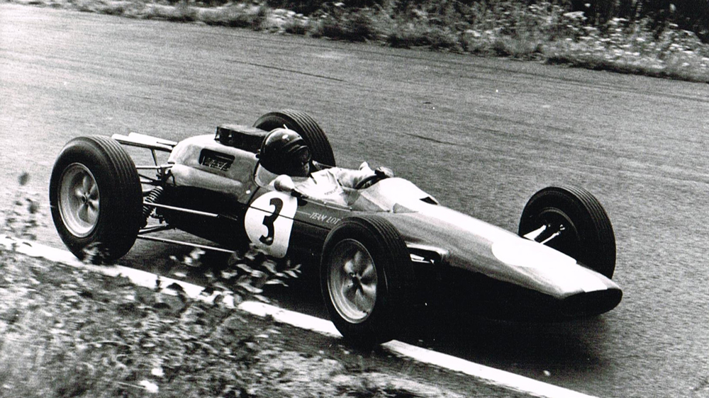 Racer Jim Clark in his Lotus Type 25.