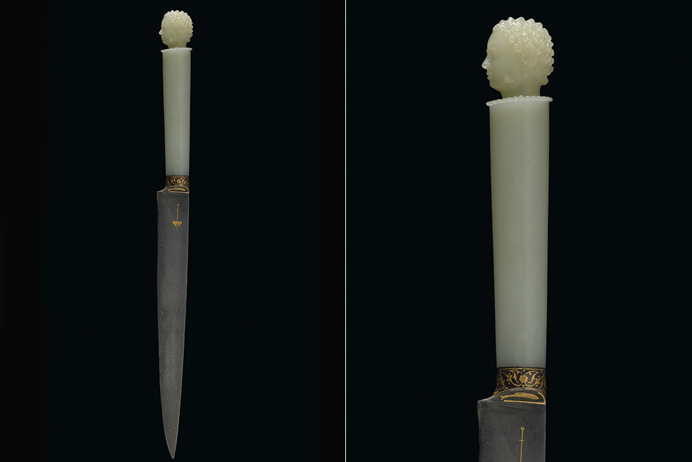 A 17th-century jade and gold dagger previously owned by emperor Shah Jahan sold for $3.3 million