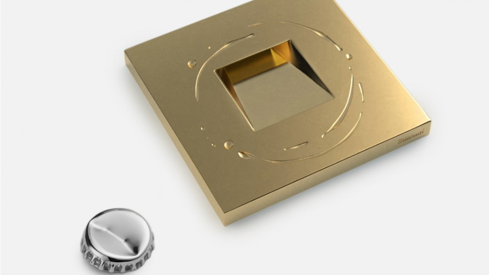 Miansai gold plated bottle opener and coaster