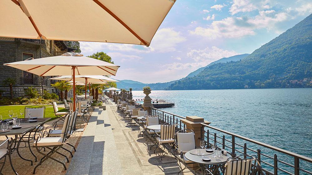 Bar Bistrot terrace at Mandarin Oriental, Lago di Como