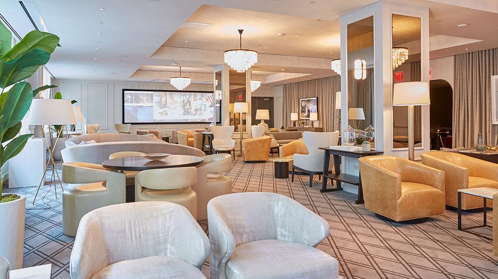 The club room at Nexus Club New York