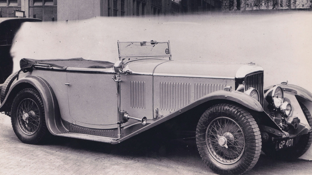 The 1931 Bentley 8 Litre Open Tourer Vanden Plas once owned by Woolf Barnato.
