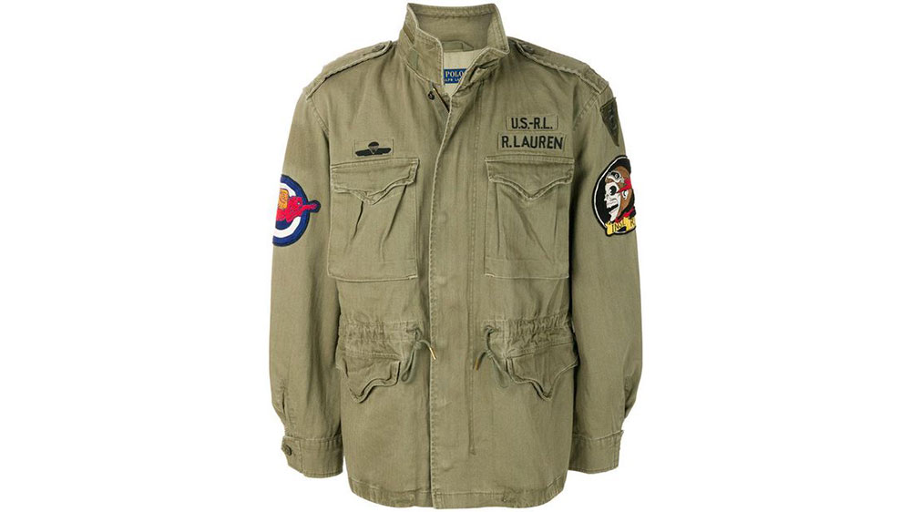Green Patch Applique Military Jacket by Ralph Lauren