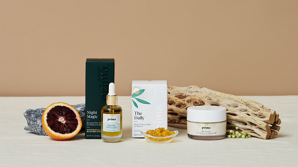 Prima's wellness blends and skin therapies.