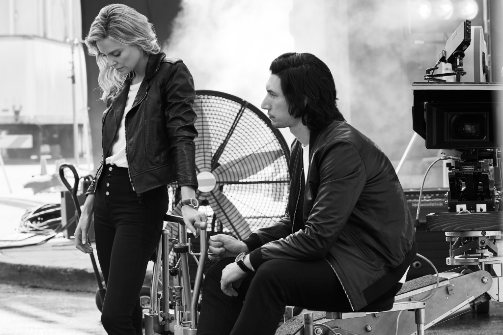 Charlize Theron and Adam Driver in Breitling Campaign