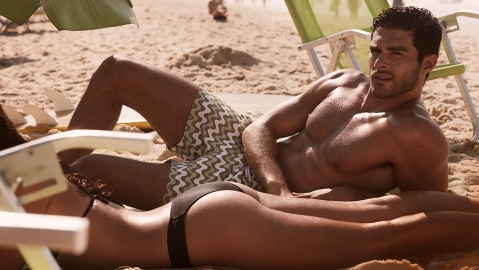 These men's swimming trunks are stylish without being too colorful or outlandish.