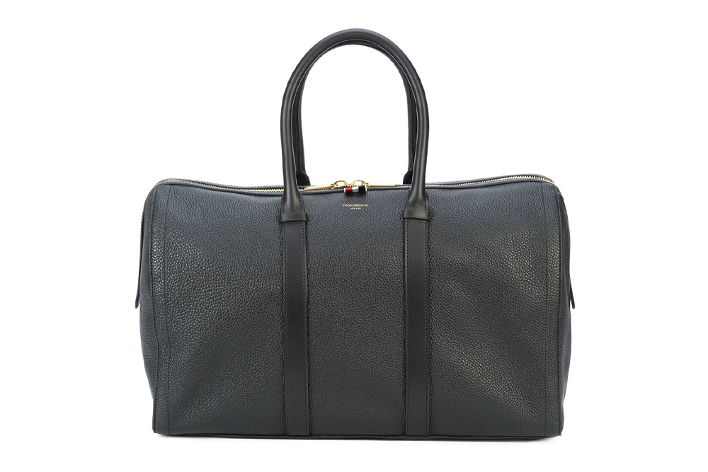 Thom Browne Unstructured Holdall in Tumbled Calf Leather