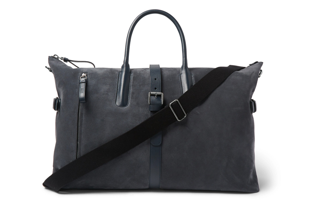 Tod's Leather Trimmed Suede Holdall