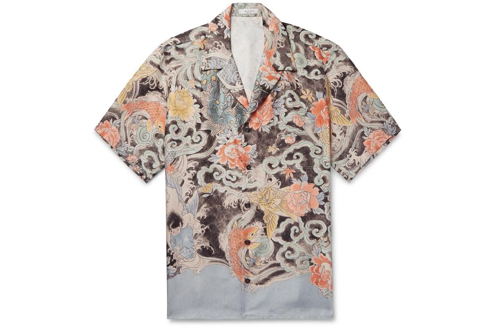 Valentino Camp Collar Shirt