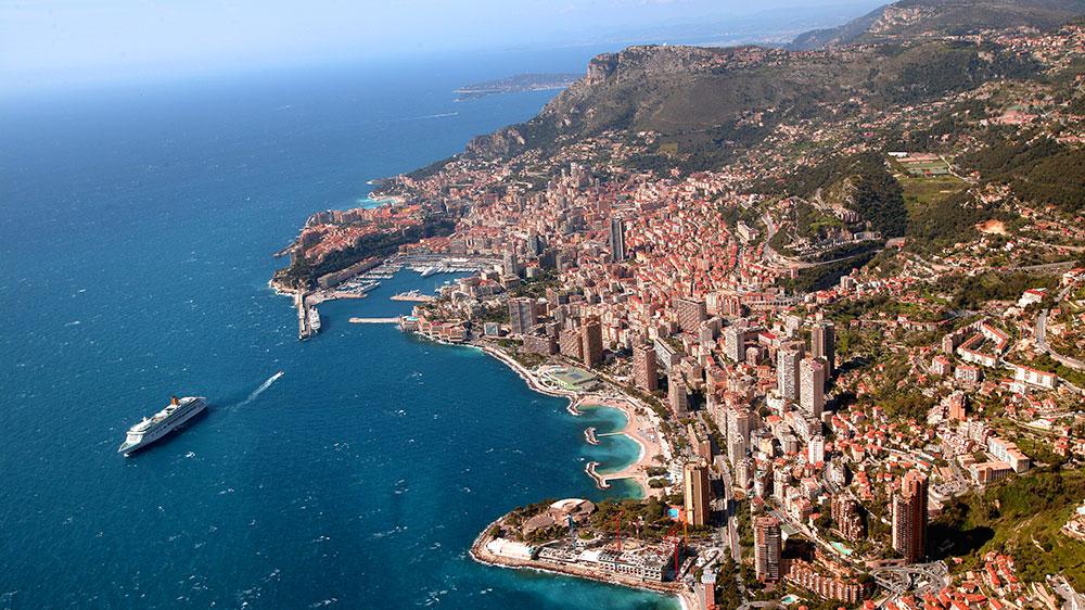 Monaco aerial view