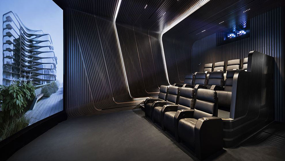 The IMAX at Zaha Hadid's 520 W. 28th