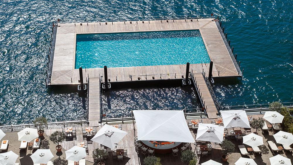 The pool at the Grand Hotel Tremezzo