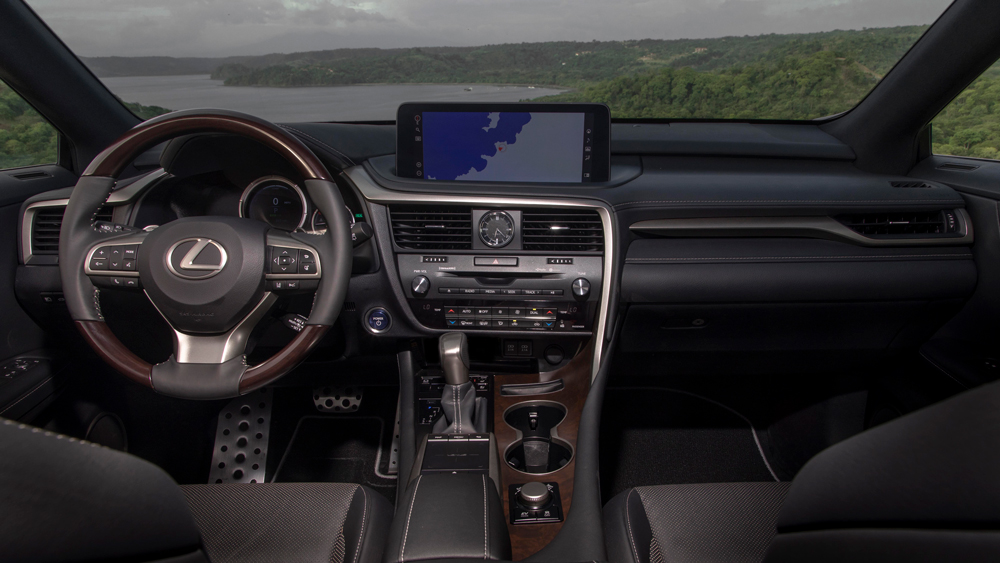 The interior of the Lexus RX 450h.
