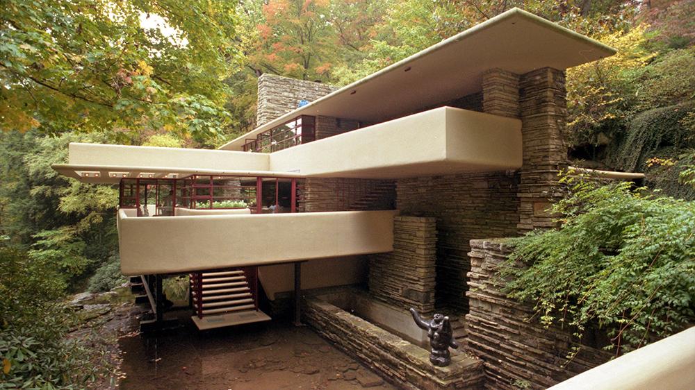 Fallingwater, Pennsylvania, America'FALLINGWATER' DESIGNED BY FRANK LLOYD WRIGHT, PENNSYLVANIA, AMERICA - 2005