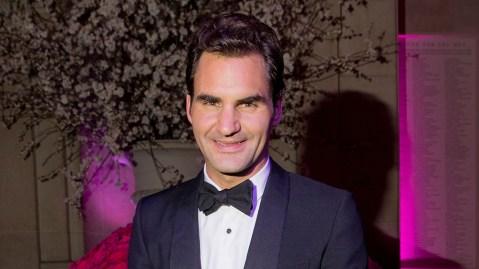 Roger Federer Met Ball Gucci Tuxedo