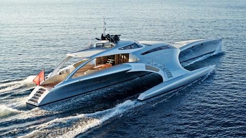 Trimaran Adastra 140-foot custom superyacht