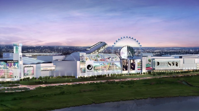 A rendering of American Dream, the new mall opening in East Rutherford, NJ.