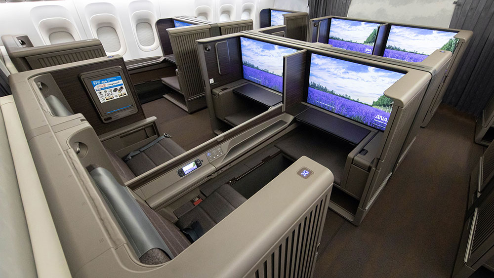 """ANA's new first-class """"suites."""""""