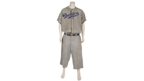 Brooklyn Dodgers coaching uniform worn by legendary pro baseballer Babe Ruth