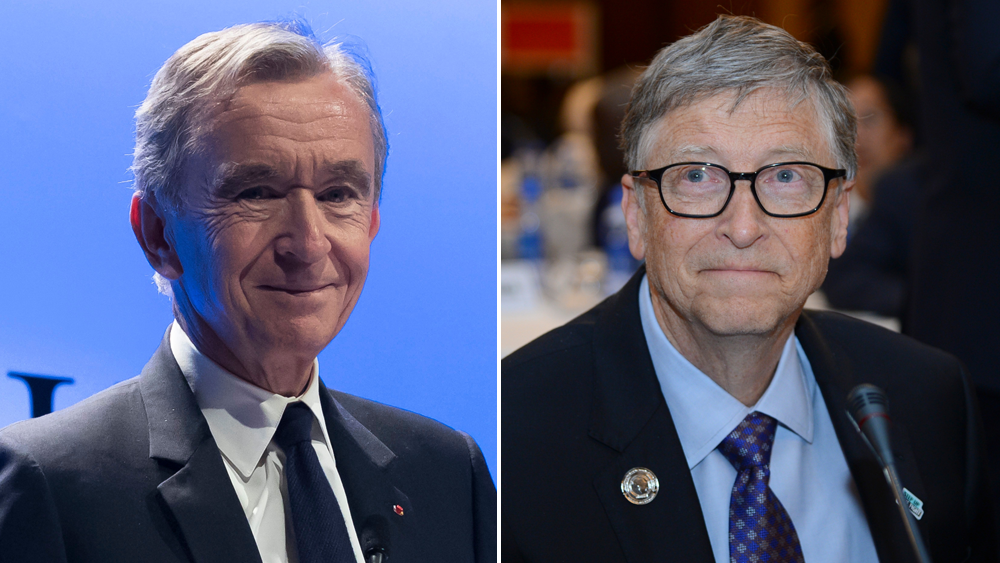 Bernard Arnault and Bill Gates