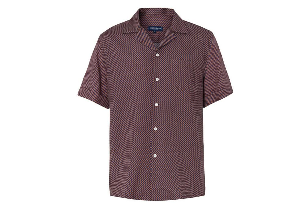 Frescobol Carioca Pepe Camp Collar Tencel Shirt